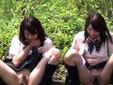 Teen asians watched peeing by fetish voyeur
