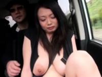 Horny busty oriental Nachi Kurosawa enjoys a hard pipe