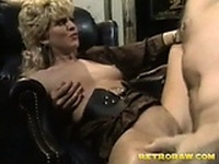 Blonde girl gets toe fucked