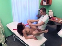Doctor bangs patient with toys