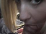 Jobless blonde teen amateur blows for cash