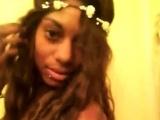 Cute ebony soft solo on sofa video