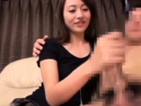 Japanese teen dolly gives great handjob