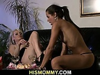 His busty mom and sweet GF enjoy each other