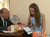 Three-some sex with teacher