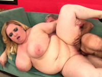 Blonde BBW Nikky Wilder Fucks an Old Man