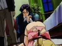 Blonde hentai schoolgirl gets nasty enema