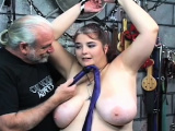 Sweetheart with fine forms naughty servitude porn play