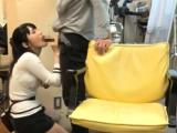Japanese hottie moans during hardcore pounding