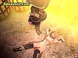 Tied Up Hentai Sex Prisoner Cunt Tortured By Samurai