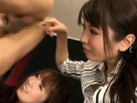 Japan playgirl mouths hard previous to being anal screwed