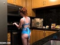 Athena Rayne cooks then makes you cum (POV Style)