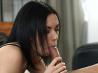 Charming slut Alice Green made pipe sucking sensation