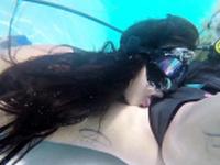 Hungarian lesbian babes underwater Vodichkina and Farkas