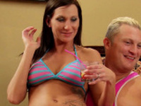 HORNY WIFE rimmed by hot stranger