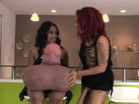 Spicy chicks drill the biggest strapon dildos and spr86zlK
