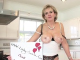 Adulterous english mature lady sonia exposes her large natur