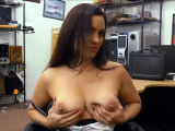 Busty MILF bangs in the pawnshop for fast cash