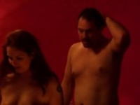 Hot redhead and mehr man visit the crazy swingers club
