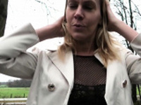 MyDirtyHobby - Amateur blonde outdoor sex in a car
