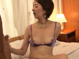 Older oriental chick gives head and gets team-fucked hard
