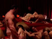 Swingers enjoy naughty private sex.