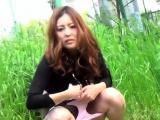 Japanese hos piss outside