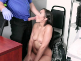 Cute latina shoplifter with a round booty gets fucked