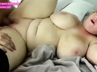 amazing bbw wife with big boobs having fun with roommate