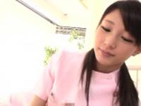 Goluptious girlie Rinon Miyazaki in erotic scene