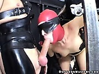 Masked slave in stockings Berki gets pussy fucked by a