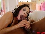 Katrina Jade cramming Prince Yahshuas cock into her mouth