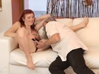 Public blowjob facial Unexpected experience with an older