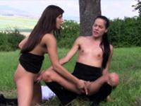 Uniformed teen lesbians