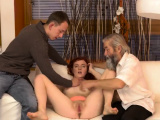 Step aunt mom and crony playfellow in threesome