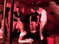 French mature Brigitte gangbanged in libertines club