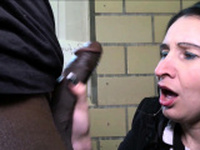 German MILF get Refugee Welcome with Fuck on Rail Toilet
