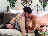Heavenly brunette babe Nickey Huntsman actively fucked