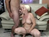 Grandmother giving head