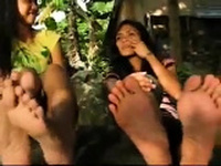 Exotic brunette hardcore foot fetish fuck