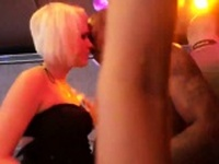 Horny nymphos get totally foolish and nude at hardcore party