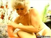Fat Elderlies Sharing a Dildo