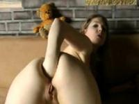 German girl fist ass webcam