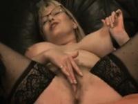 Sweet MILF penetrates squirting juicy vagina
