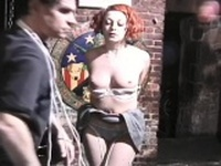 Hot and heavy s&m scenery with young blindfolded playgirl