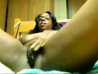 Ebony rubs until orgasm
