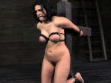 Punished busty sub squirts while pussy teased