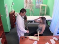Doctor shoots blonde suck and fuck