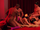 CHICK takes her LARGE DICKED sexy husband to SWINGER HOUSE