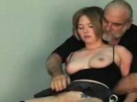 Exposed woman stands and endures rough thraldom amateur
